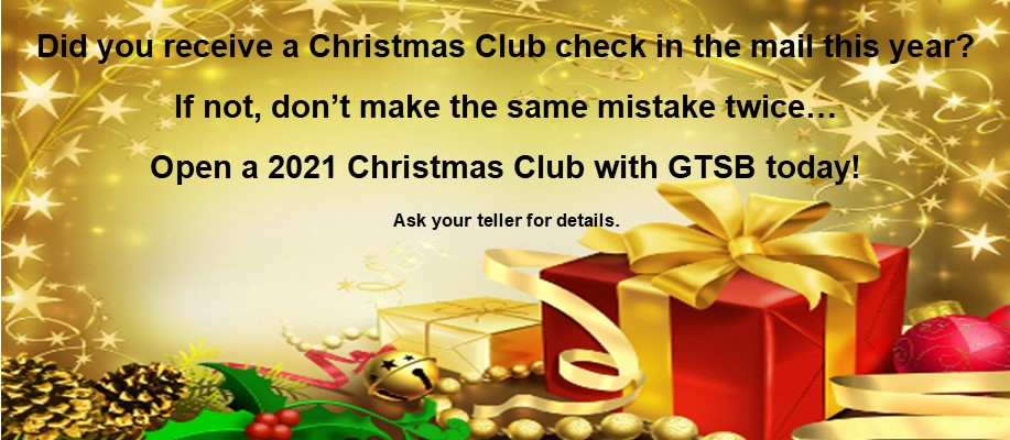 Open Your 2021 Christmas Club Today
